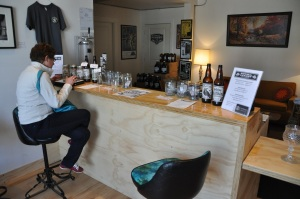 Lounge and sampling bar.