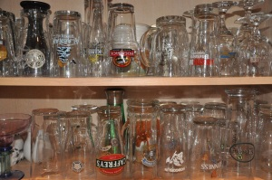 A small part of my logo beer glass collection. They just keep multiplying.