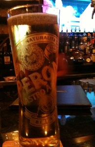 Peroni and the Sox -- a restaurant bar in Little Italy.