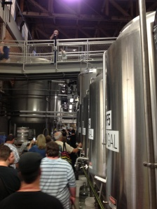 Fermentor Valley. Note the fellow attendee on the catwalk, way ahead of the crowd.