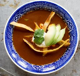 Ancho Chili Soup with Cocoa