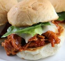 Pulled chicken sliders with Mole Negro