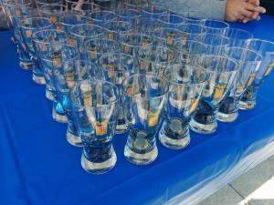 Festival glasses, ready for action